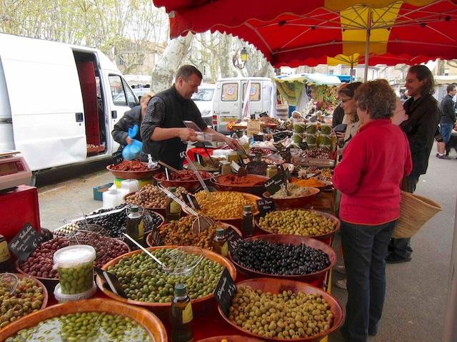Indkøbsmuligheder & restauranter, Languedoc, Sydfrankrig